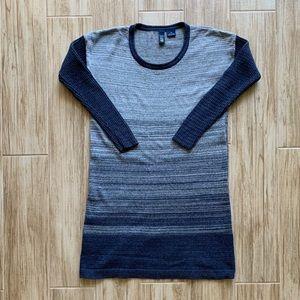 Navy striped sweater dress Size S EUC